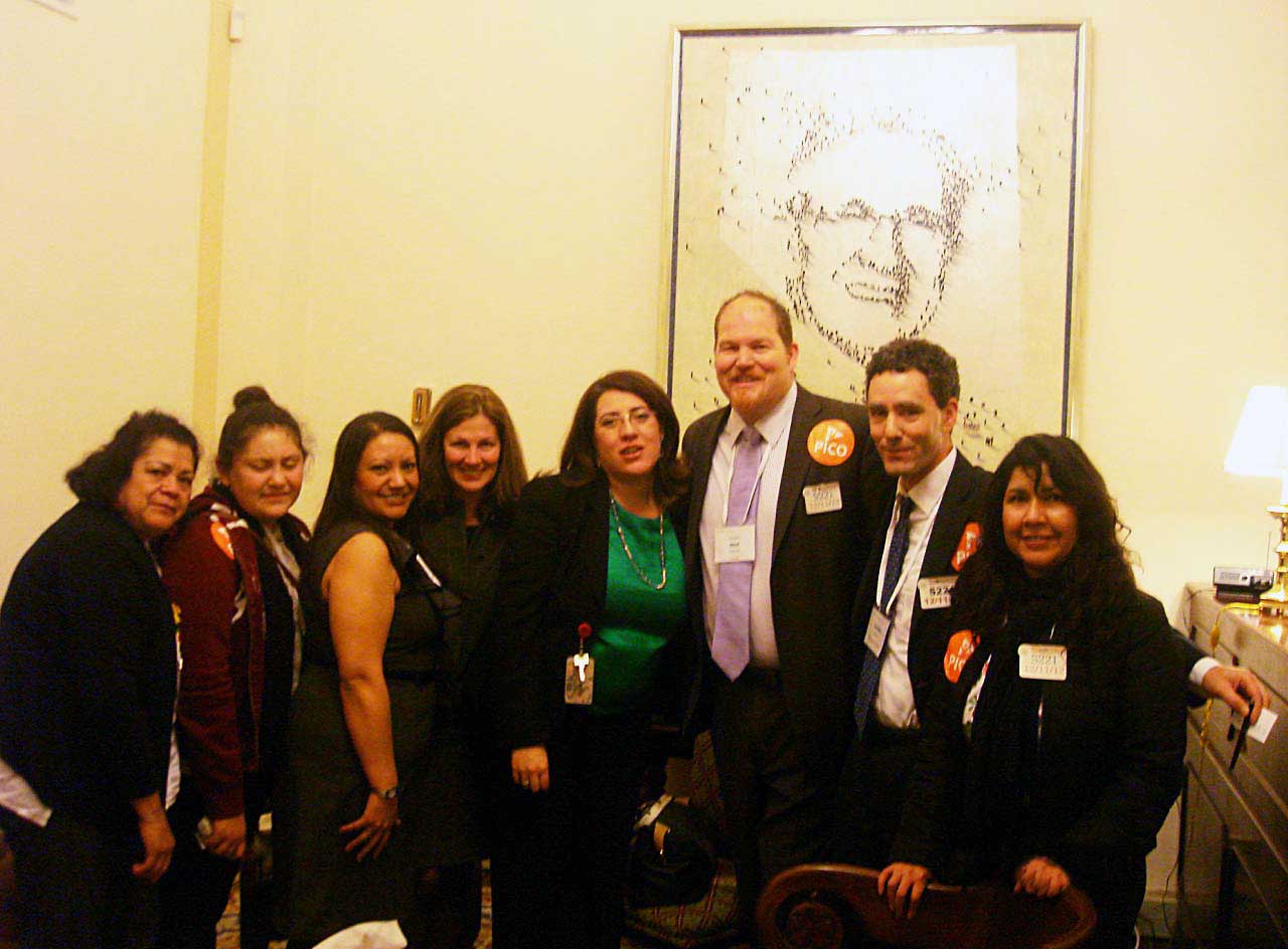 OCO organizers and leaders with representatives from Sen. Harry Reid's office during the PICO Faith & Families Summit
